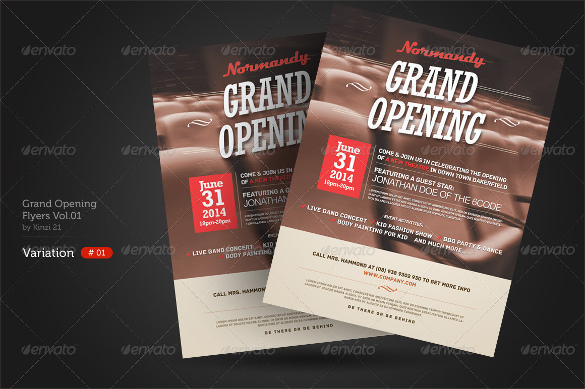 Grand Opening Flyer Template 17 Download Document In
