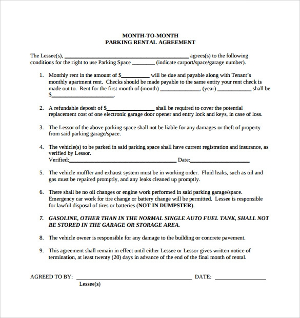 10 Simple Rental Agreement Templates Download for Free | Sample ...