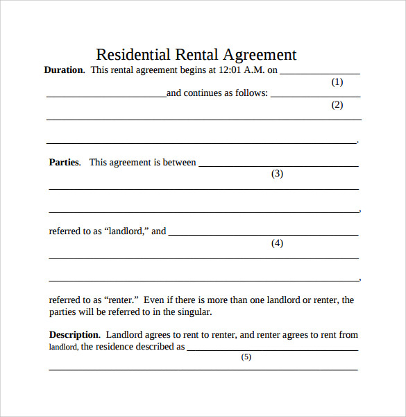 10 simple rental agreement templates download for free sample templates. Black Bedroom Furniture Sets. Home Design Ideas