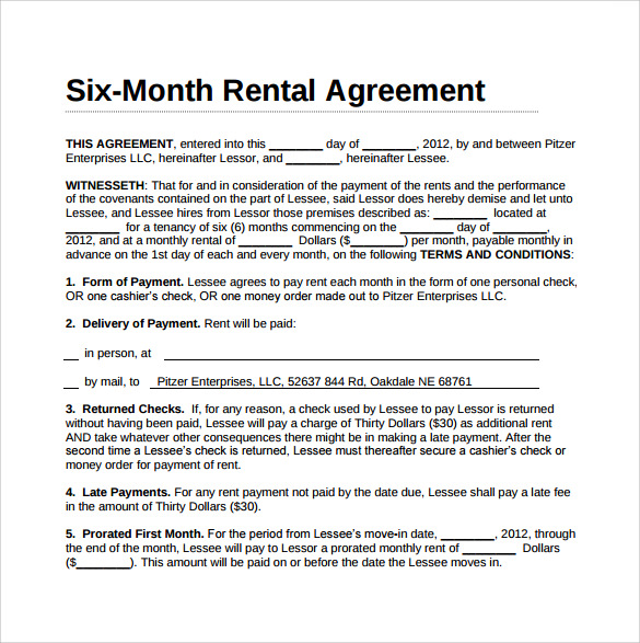10 simple rental agreement templates download for free for Event terms and conditions template