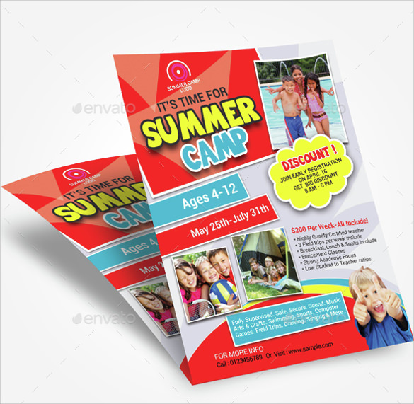 summer camp flyer sample