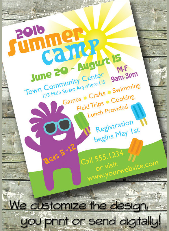 17  summer camp flyer templates