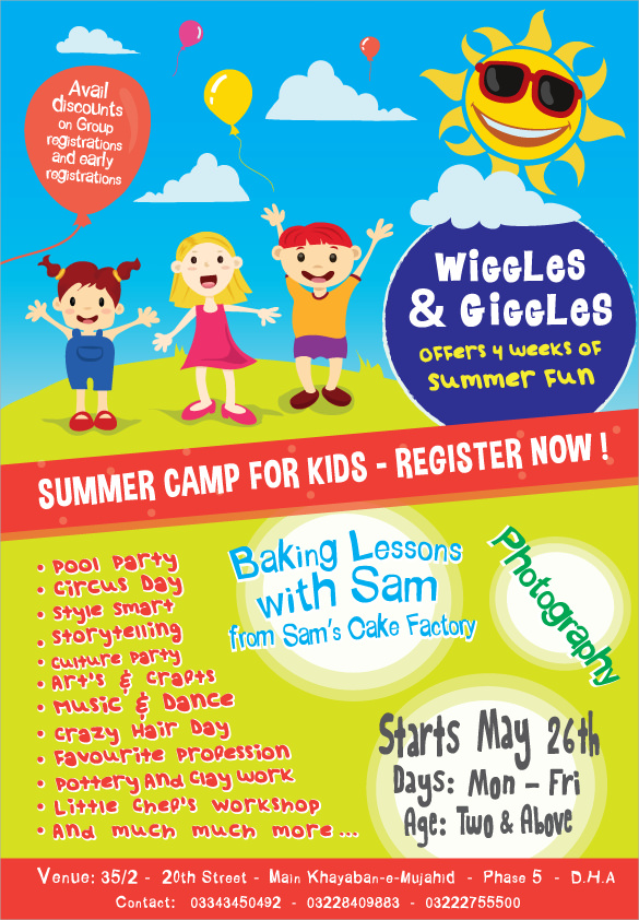 summer camp flyer ideas