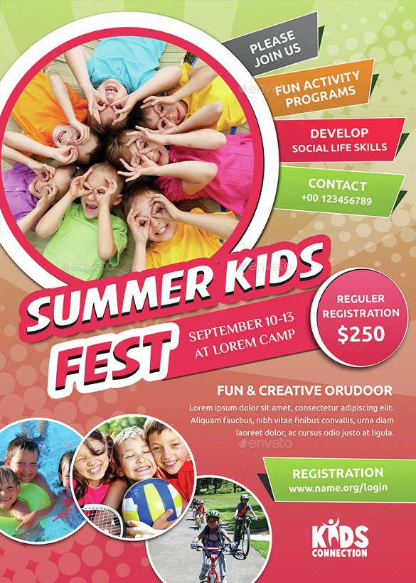 Summer Camp Flyer Template Download Documents In PDF PSD - Summer camp brochure template