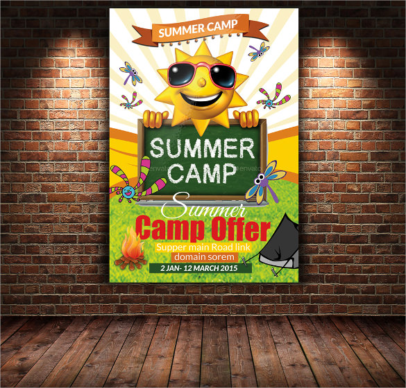 summer camp flyer design templates