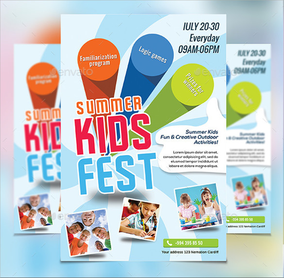 13  summer camp flyer templates to download