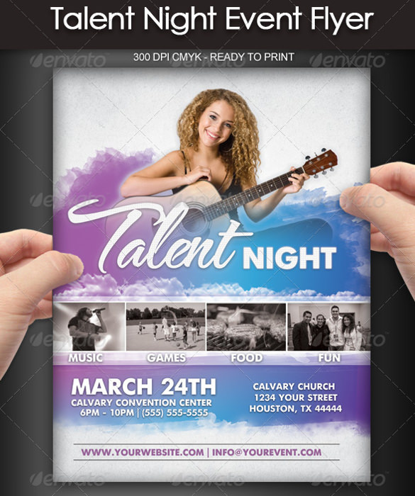 talent show flyers template free .