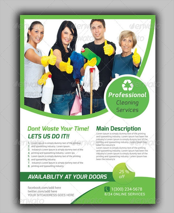 House Cleaning Flyer Template 9 Download Documents In