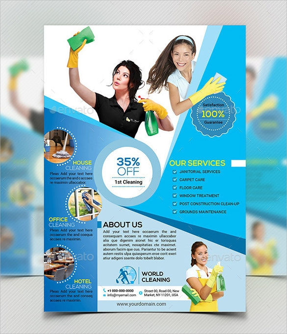 House Cleaning Flyer Template - 9+ Download Documents In Psd