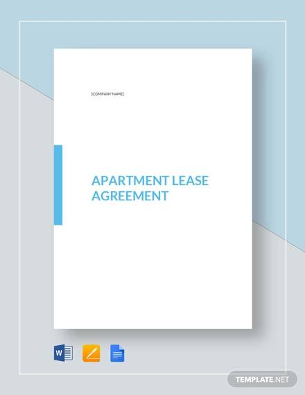 apartment lease agreement template2
