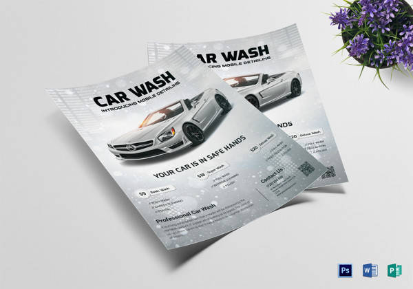 basic car wash flyer template