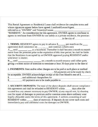 basic home lease agreement