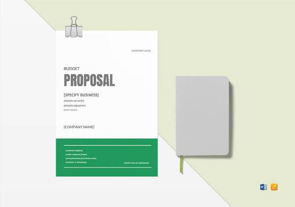 budget proposal template to print