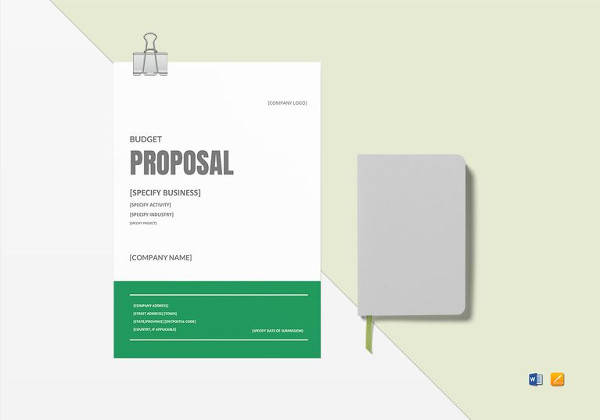 budget proposal word template