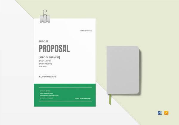 9 sample loan proposals sample templates budget proposal word template wajeb Choice Image