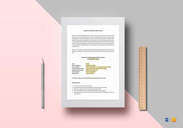 business market survey template