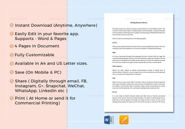 business memo template1