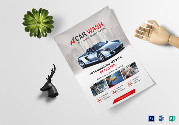car wash business flyer template1