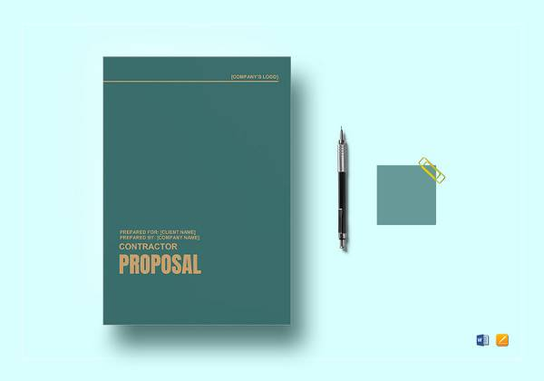 contractor proposal template4