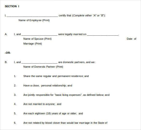 free 12  sample domestic partnership agreement templates