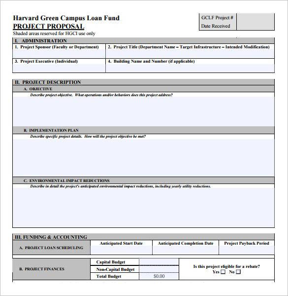 Sample Loan Proposal   Documents In Pdf Word