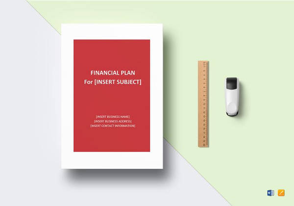 financial plan template in word