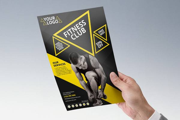 fitness flyer template1