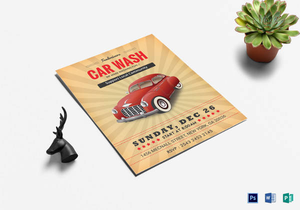 fundraiser car wash flyer template in publisher