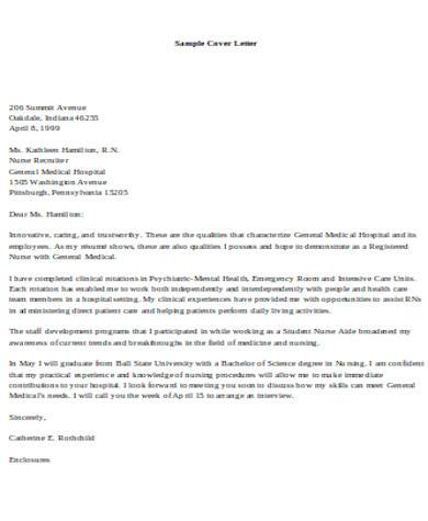 general nursing cover letter