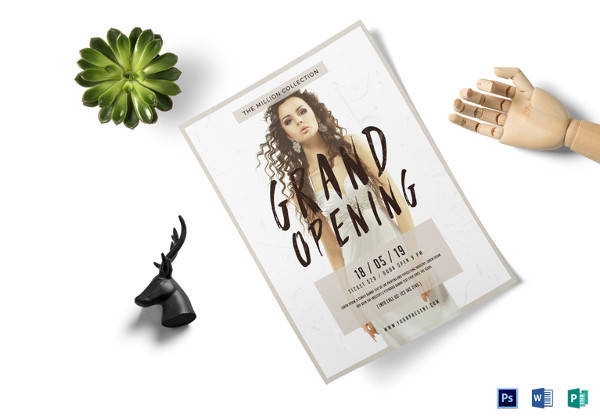 grand opening flyer template in psd