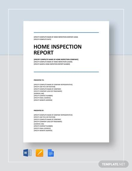 12  sample home inspection reports