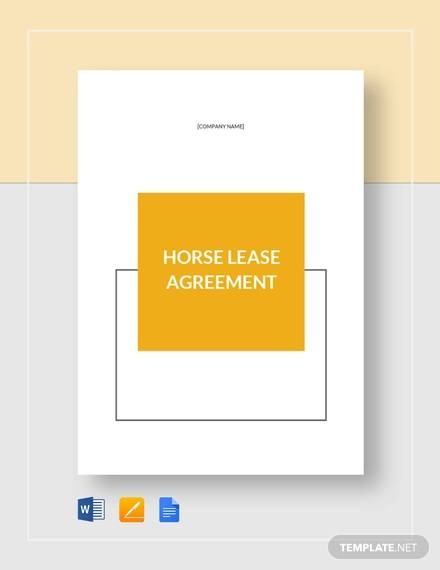 horse lease agreement template1