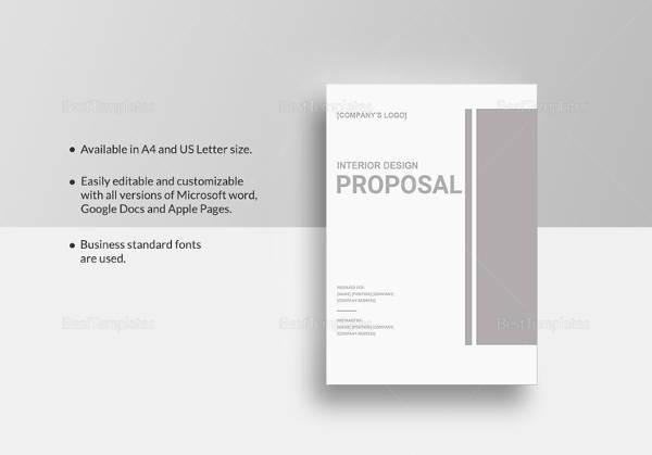 interior design proposal tmplate