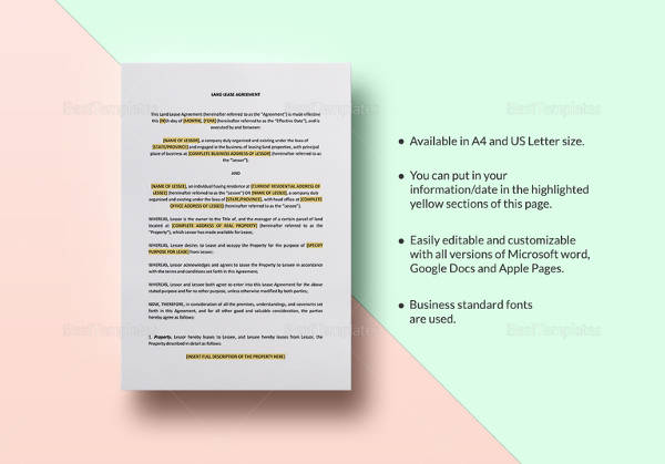 land lease agreement template2