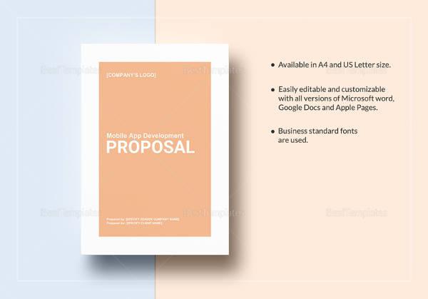mobile app development proposal template