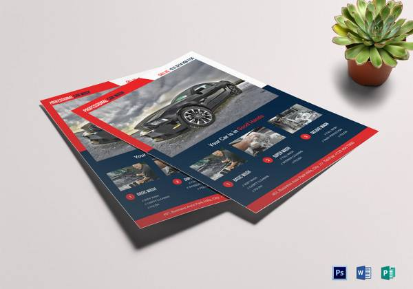 modern car wash flyer template