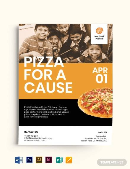 pizza fundraiser flyer template