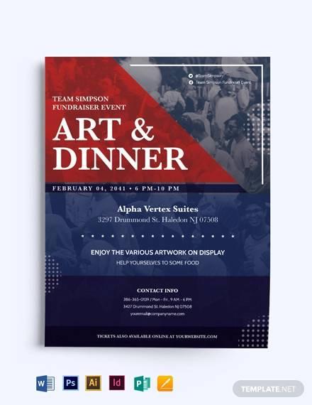 political fundraiser flyer template