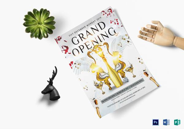premium grand opening flyer template