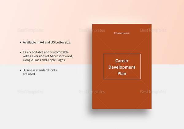 printable career development plan template