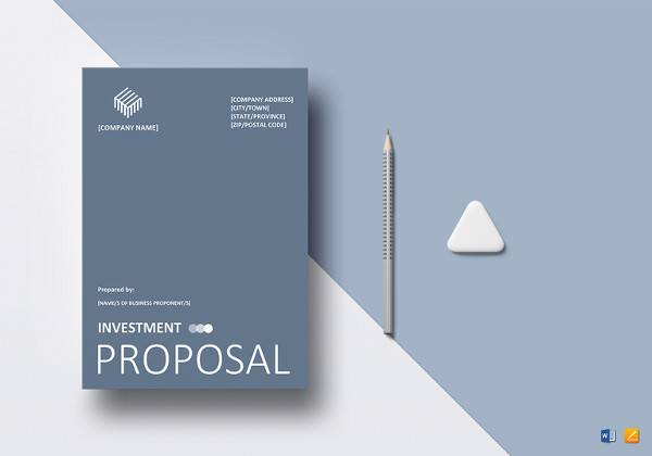 Printable Investment Proposal Template