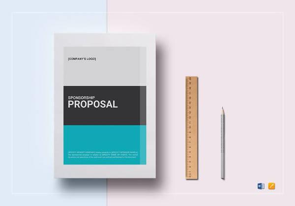 printable sponsorship proposal template