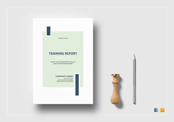 printable training report template