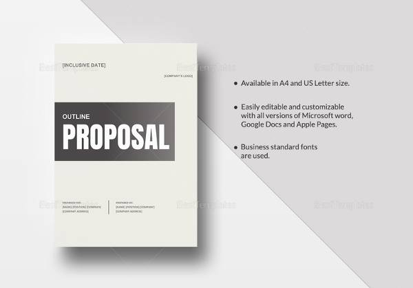 proposal outline template