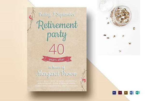 11 retirement party flyer templates to download sample templates