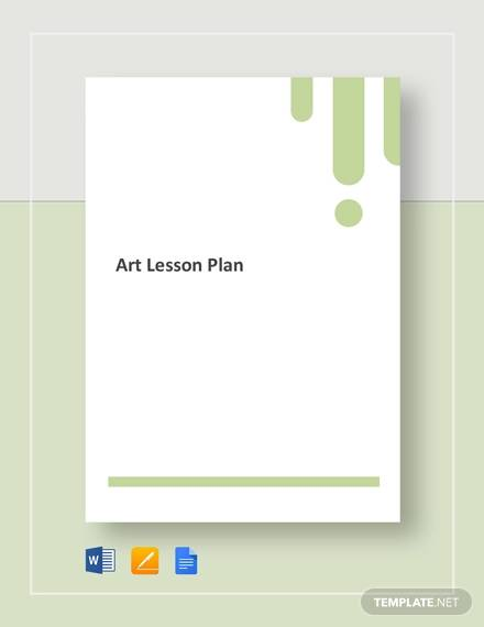 sample art lesson plan template