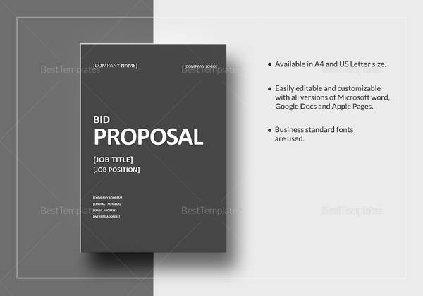 sample bid proposal template