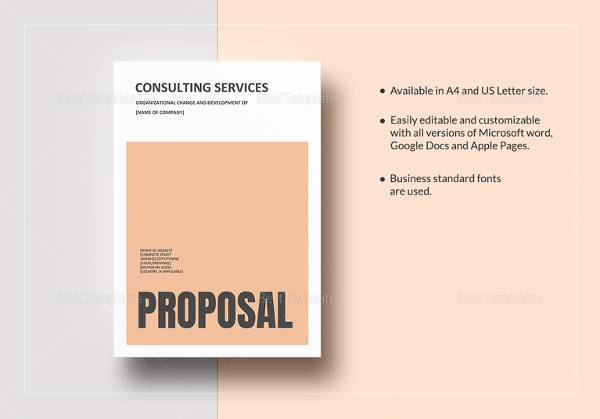 sample consulting services proposal template