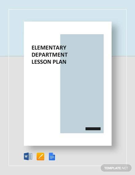 sample elementary lesson plan
