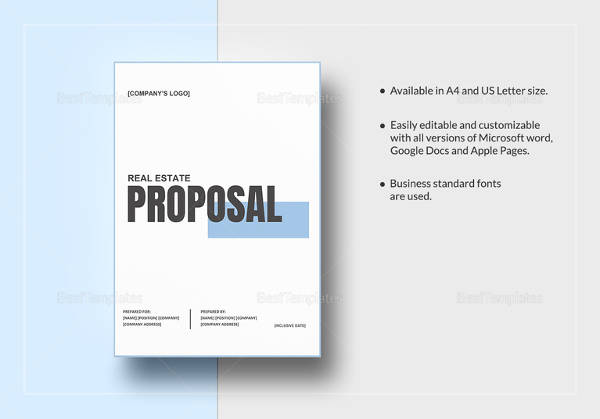 sample real estate proposal template
